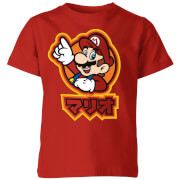 Nintendo Super Mario Mario Kanji Kids' T-Shirt - Red