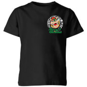 Nintendo Super Mario Bowser Merry Christmas Pocket Wreath Kinder T-Shirt - Schwarz