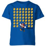 Nintendo Super Mario Coin Drop Kid's T-Shirt - Royal Blue