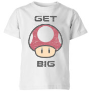 Nintendo Super Mario Get Big Mushroom T-Shirt Kids' T-Shirt - White