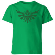 Nintendo The Legend Of Zelda Tribal Hyrule Crest Kinder T-Shirt - Grün