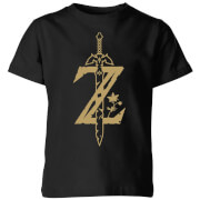 Nintendo The Legend Of Zelda Master Sword Kinder T-Shirt - Schwarz