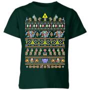 Nintendo The Legend Of Zelda Its Dangerous To Go Alone Kids' T-Shirt - Forest Green