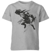 Nintendo The Legend Of Zelda Link Kids' T-Shirt - Grey