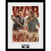 The Walking Dead - Season 8 Illustration 12 x 16 Inches Framed Photograph