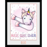 Emoji Unicorn Dab 12 x 16 Inches Framed Photograph