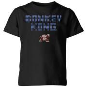 Nintendo Retro Donkey Kong Logo Kids' T-Shirt - Black