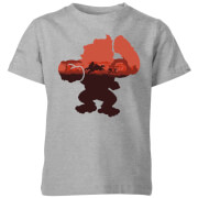 T-Shirt Enfant Silhouette Serengeti - Donkey Kong Nintendo - Gris