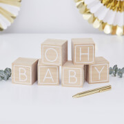 Ginger Ray Guest Book - Baby Blocks