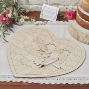 Image of Ginger Ray Wooden Jigsaw Guestbook Alternative - Boho