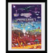 Minecraft World Beyond 12 x 16 Inches Framed Photograph