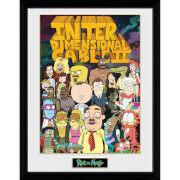 Rick and Morty Interdimentional Cable 12 x 16 Inches Framed Photograph
