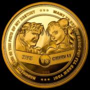 Pièce de Monnaie de Collection Street Fighter 30ème Anniversaire - Édition Limitée Or (1000 exemplaires)