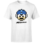Mega Man Pixel Face T-shirt - Wit