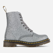 Dr. Martens Women's 1460 Glitter Pascal 8-Eye Boots - Pewter - UK 3 - Silver