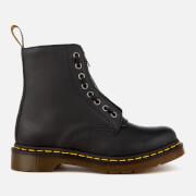 Dr. Martens Women's 1460 Pascal Front Zip Arcadia Leather 8-Eye Boots - Black - UK 7 - Black