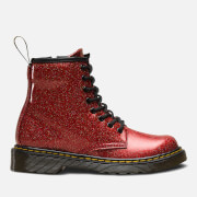 Dr. Martens Kids' 1460 T Glitter Lace Up Boots - Red Multi