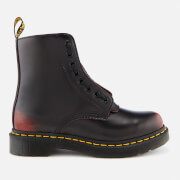 Dr. Martens Women's 1460 Pascal Front Zip Arcadia Leather 8-Eye Boots - Cherry Red - UK 6 - Red