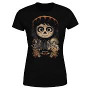 T-Shirt Femme Visage Miguel Poster Coco - Noir