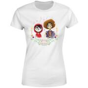 Disney Coco Miguel en Hector Dames T-shirt - Wit