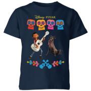 T-Shirt Enfant Miguel et Logo Coco - Bleu Marine