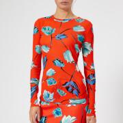 Diane von Furstenberg Women's Fitted T-Shirt - Asher Vermillion - L - Red