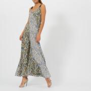 Diane von Furstenberg Women's Paneled Maxi Dress - Barton Logo Bone/Barton - US 4/UK 8 - Multi