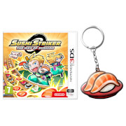 Sushi Striker: The Way of Sushido (Nintendo 3DS) + Sushi Keychain