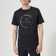 PS Paul Smith Men's Short Sleeve Regular Fit Circle T-Shirt - Dark Navy