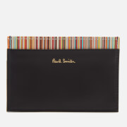Paul Smith Men's Stripe Credit Card Case - Black
