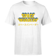 T-Shirt Homme Japonais - Space Invaders - Blanc