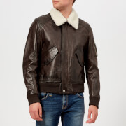 Belstaff Men's Arne Leather Jacket - Black/Brown - IT 52/XL - Brown