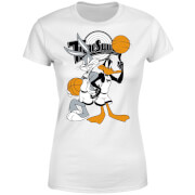Space Jam Bugs And Daffy Tune Squad Womens T Shirt   White   XXL   White
