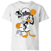 Space Jam Bugs And Daffy Tune Squad Kids T Shirt   White   5 6 Years   White