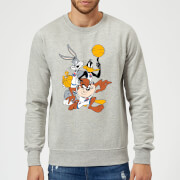 Space Jam Group Shot Sweatshirt   Grey   S   Grey