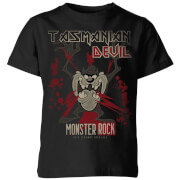 Looney Tunes Taz Monster Rock Kinder T-Shirt - Schwarz