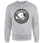 Looney Tunes That's All Folks Porky Pig Sweatshirt - Grey