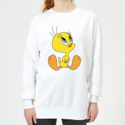 Looney Tunes Tweety Sitting Women's Sweatshirt - White