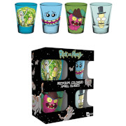 Rick and Morty Mix Coloured Shot Glasses