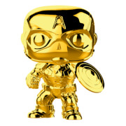 Marvel Studios 10th Anniversary Captain America Gold Chrome Funko Pop! Figuur
