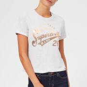 6cc365fba Superdry Women's Foil Airtex Boxy T-Shirt - Ice Marl - L/UK 14 - Grey
