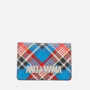 Vivienne Westwood Anglomania Women's Shuka Tartan Small Credit Card Holder - Blue