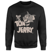 Tom & Jerry Circle Sweatshirt - Black