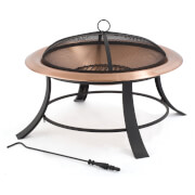 Tepro Mountain Fireplace - Copper/Black