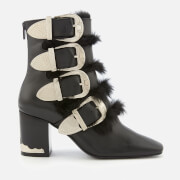 Toga Pulla Women's Leather Heeled Ankle Boots - Black - UK 3 - Black
