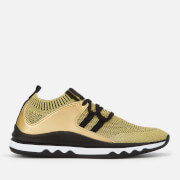 Armani Exchange Women's Knitted Running Style Trainers - Gold