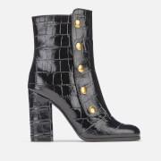 Mulberry Women's Marylebone Leather Heeled Boots - Black - EU 36/UK 3 - Black