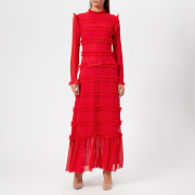 Rejina Pyo Women's Hadley Long Dress - Chiffon Red - UK 10 - Red
