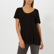 T by Alexander Wang Women's Drapey Jersey T-Shirt with T Darting Detail - Black - L - Black