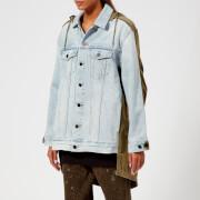 T by Alexander Wang Women's Daze Mix Bleach Jacket - Bleach/Army Green - M - Multi